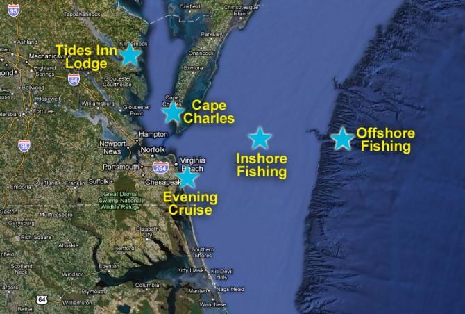 fishing trip destinations in Virginia